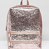 Skinnydip Pink Glitter Backpack