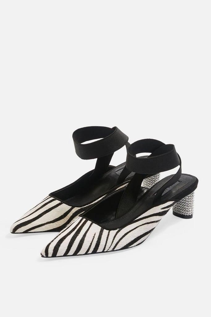 Topshop JAX Pointed Diamante Heel Shoes