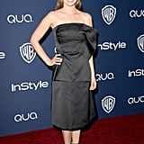 Ahna O'Reilly wore a simple black dress.