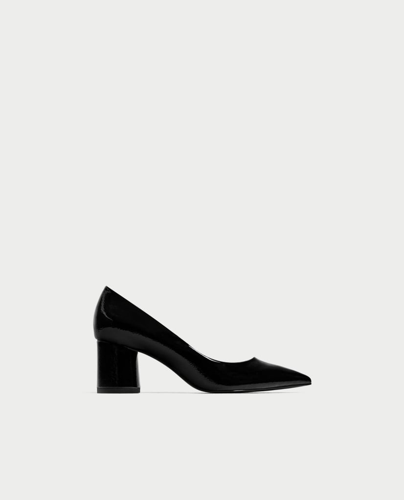 3af7469e436 Zara Pointed Medium Heel Shoes