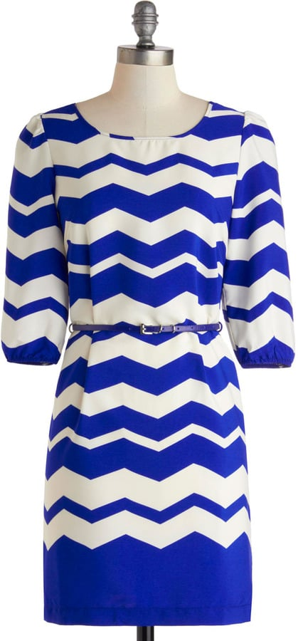 In love with chevron everything? You can wear it now, too! This sweet, ever-so-retro ModCloth dress ($50) is a perfect way to play with the trend.