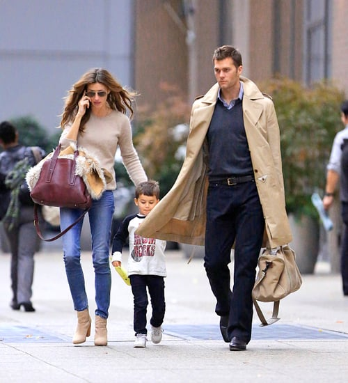 Gisele Bundchen and Tom Brady in NYC With Benjamin