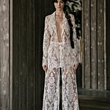 She Changed Into This Sheer Lace Pantsuit by Rita Vinieris For Dancing