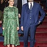 Crown Princess Victoria Wearing H&M Conscious Dress