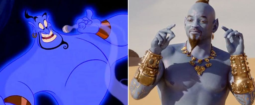Aladdin Cartoon and Live-Action Cast Side-by-Side Photos
