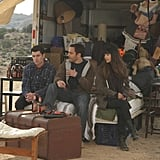 Max Greenfield as Schmidt, Hannah Simone as Cece, and Jake Johnson as Nick on New Girl. Photo courtesy of Fox