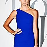 Lindsay Ellingson was electric in a bright blue sheath at W's party.