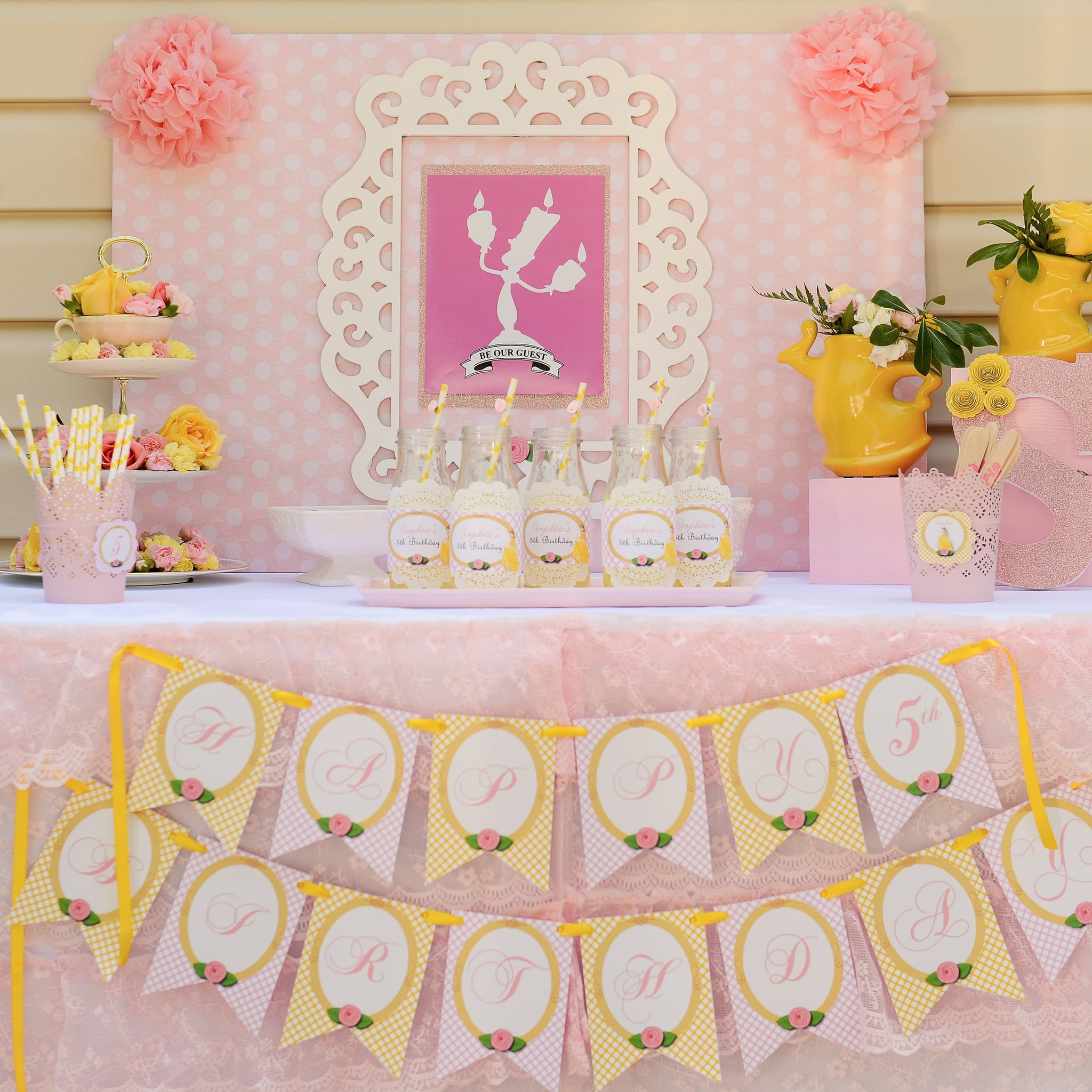 Beauty And The Beast Belle Birthday Party Popsugar Family Photo 62