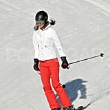 Kate Middleton made a textbook turn on the slopes in France.