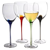 Artland Splash White Wine Glasses Multicolored