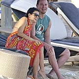 Jenna Dewan and Channing Tatum shared a laugh.