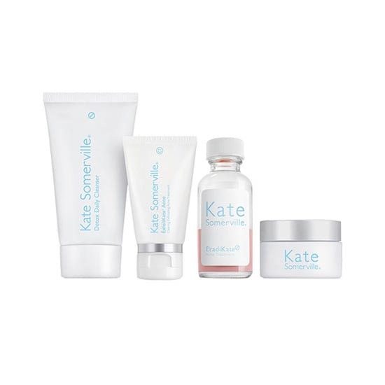 Rid your complexion of bothersome blemishes with the Kate Somerville Blemish Banisher Kit ($55). It comes with a cleanser, oil-free moisturizer, exfoliant, and a bottle of acne-reducing supplements, so you can treat your skin from the inside as well as the outside.