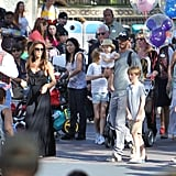 Victoria Beckham, David Beckham and their kids, Harper Beckham, Brooklyn Beckham, Romeo Beckham, and Cruz Beckham spent an afternoon at Disneyland.