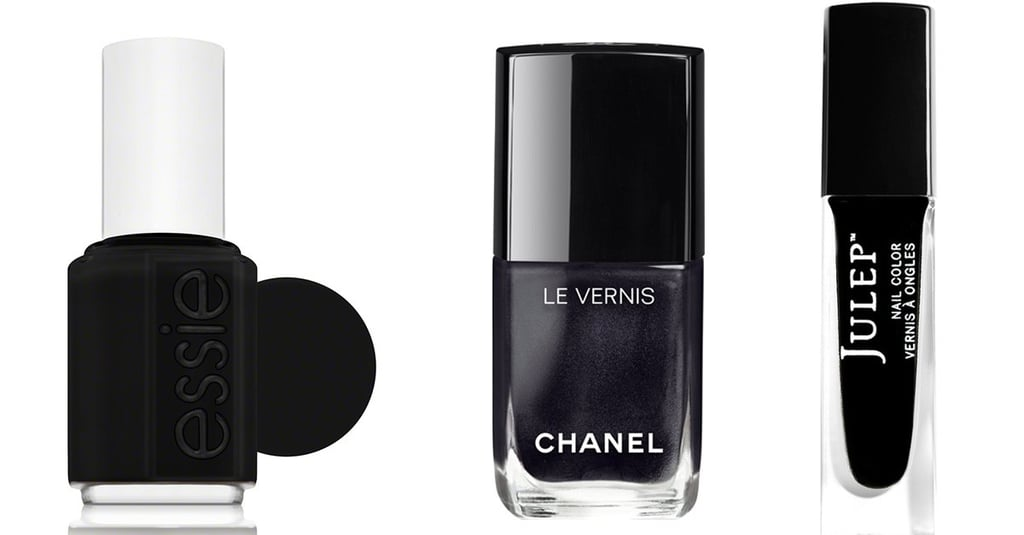 11 Black Nail Polishes That Are Festive Enough For Dinner at Grandma's