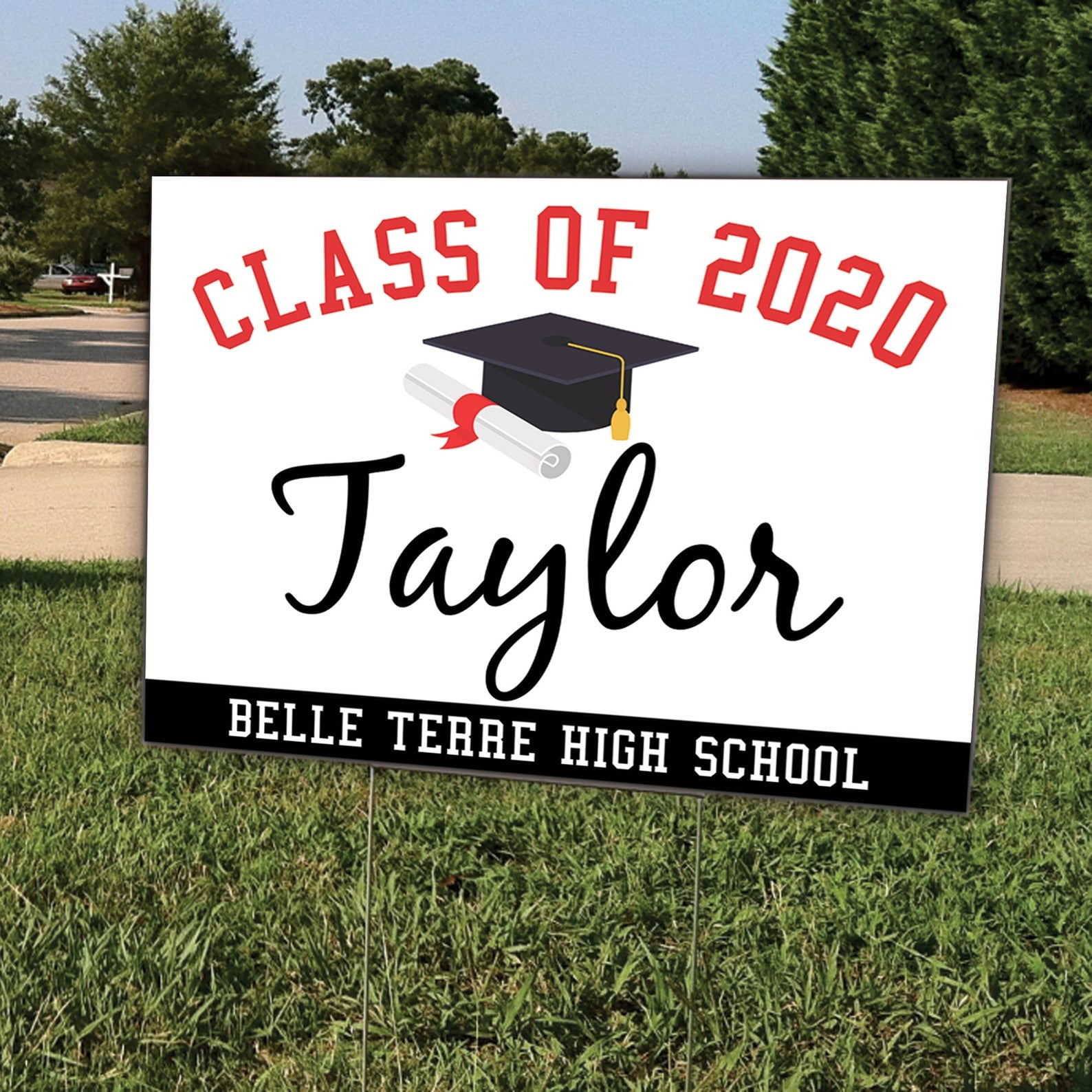 Perkiomen Valley Class of 2020 Graduation Yard Sign #allinthistogether w stand