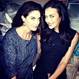 Megan Gale and Marie Claire editor Jackie Frank met up at Alex Perry's show. Source: Instagram user megankgale
