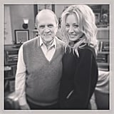 Kaley Cuoco shared her glee at getting to work with Bob Newhart. Source: Instagram user kaleycuoco