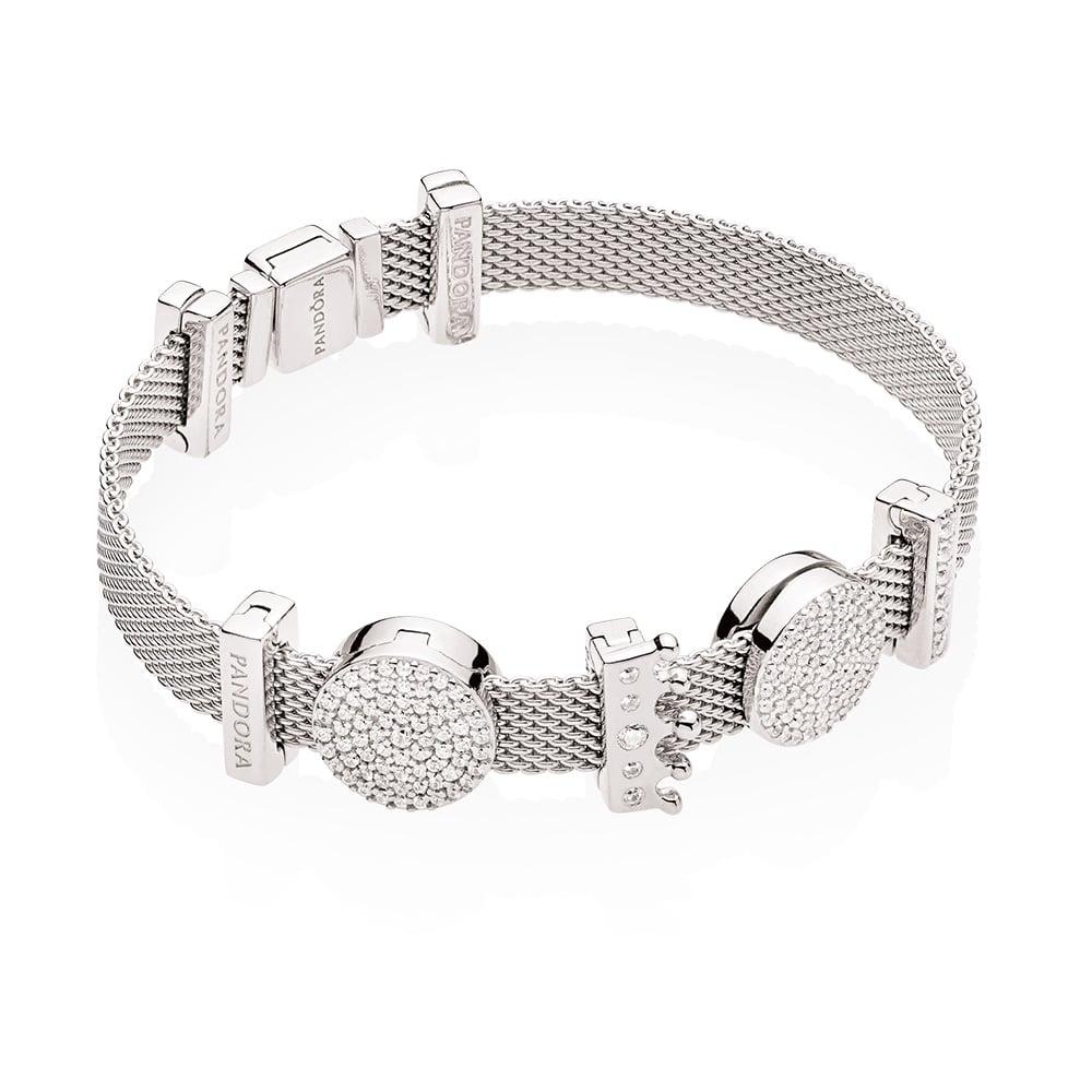 PANDORA Reflexions Bracelet ($89), PANDORA Reflexions Clip Charms (from $39)