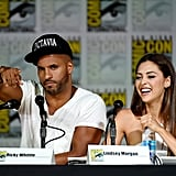 Pictured: Ricky Whittle and Lindsey Morgan.