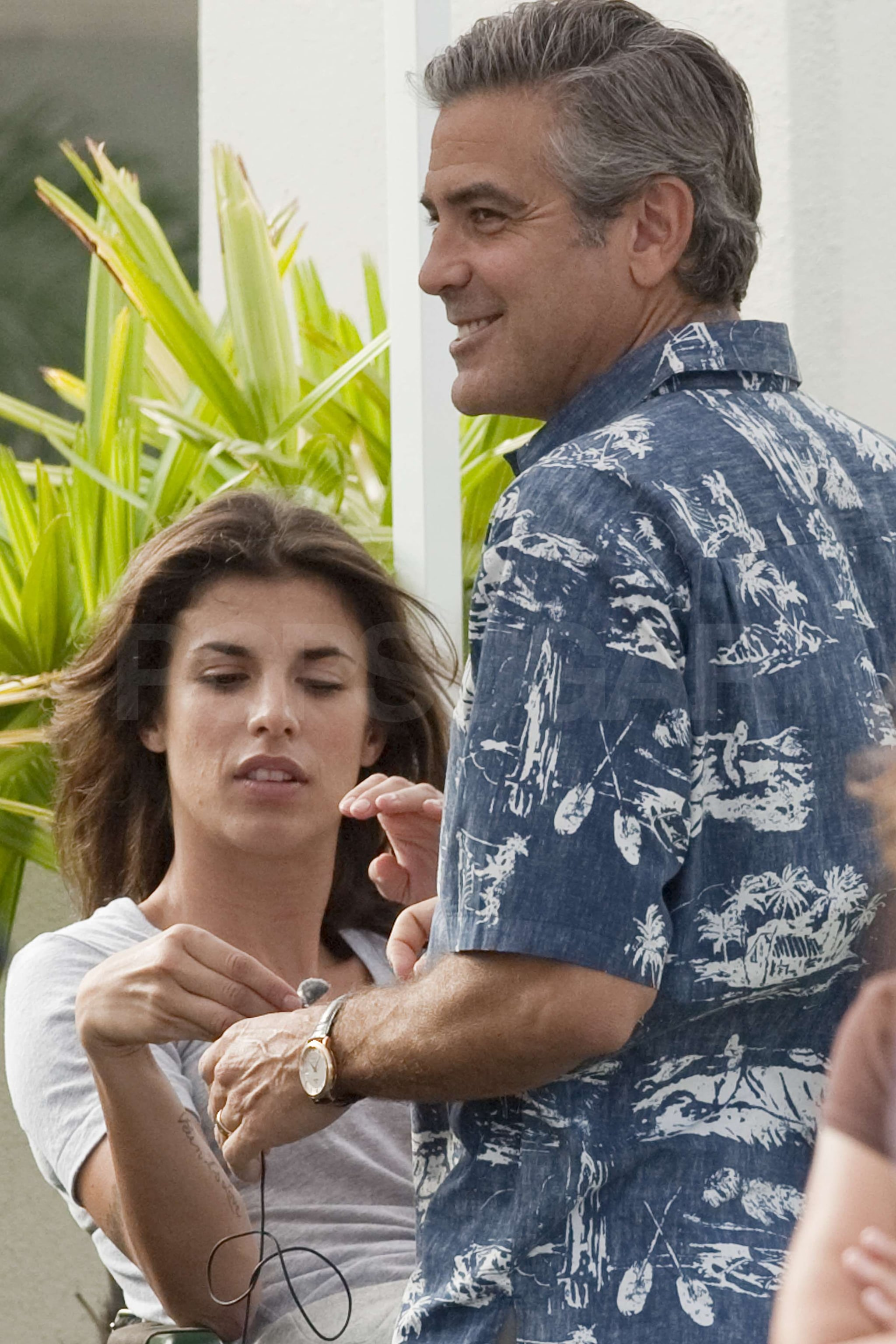 Pictures Of George Clooney And Elisabetta Canalis On The