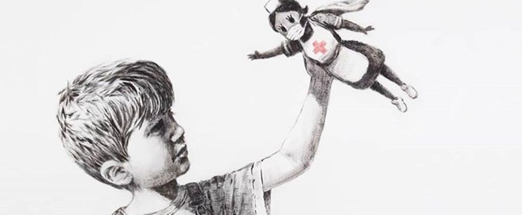 Banksy's NHS Artwork Displayed in Southampton Hospital