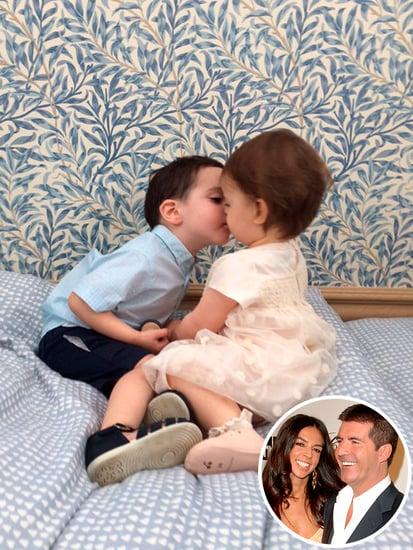 Friendly Exes Simon Cowell and Terri Seymour's Kids Share a Cute Kiss