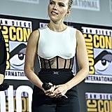 Pictured: Scarlett Johansson at San Diego Comic-Con.