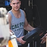 Zac Efron Shows His Hometown Pride While Pumping Iron