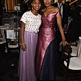 Kerry Washington and Quvenzhané Wallis got up from their seats for a snap.