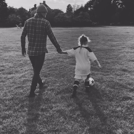David Beckham Teaches Harper to Play Soccer