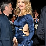 Shortly after announcing her second pregnancy, Kate Hudson showed off her new bump in a skin-baring gown at the Grammy Awards in February '11.