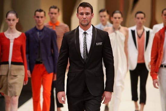 Kris Smith on Hugo Boss Suits, Leather Ties and Golfing Attire: Backstage at the Myer Spring Summer Fashion Show!