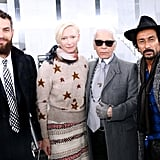With Karl Lagerfeld and Haider Ackermann.