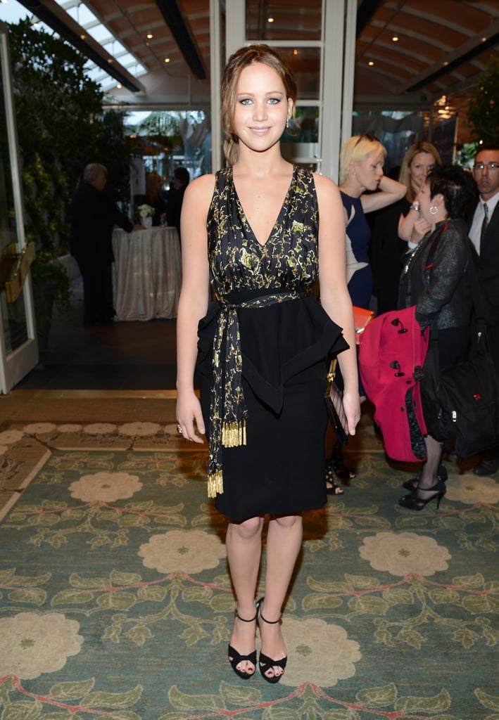 Jennifer Lawrence attended the BAFTA tea party in LA.