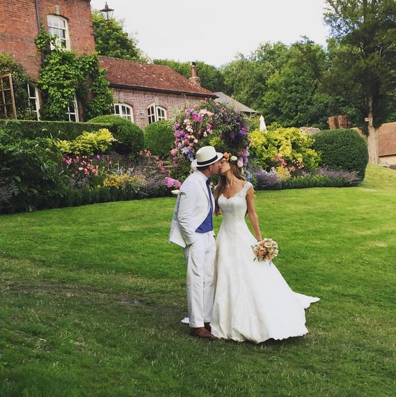 Guy Ritchie and Jacqui Ainsley's July 2015 English garden wedding was a star-studded bash that brought out David Beckham, Brad Pitt, and others.
