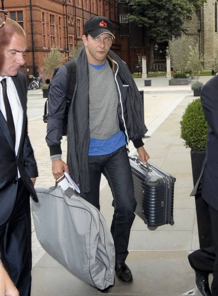 Bradley Cooper arrived in England.