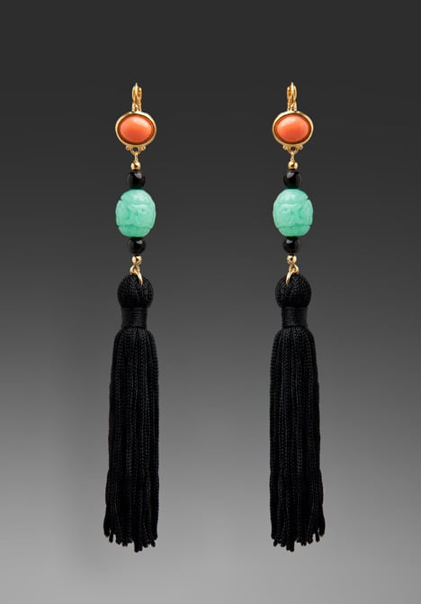 Add these Kenneth Jay Lane Drop Tassel Earrings ($52) to your LBD for instant party appeal.