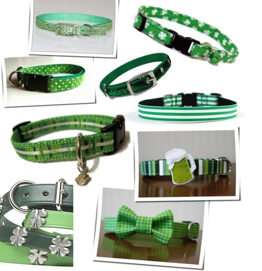 Green Dog and Cat Collars For St. Patrick's Day