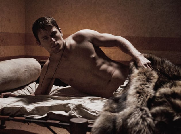 Channing Tatum got sexy in The Eagle.