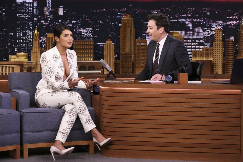 Priyanka Chopra White Suit February 2019