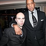 Jay-Z hung out with fellow recording artists at his club's grand reopening.