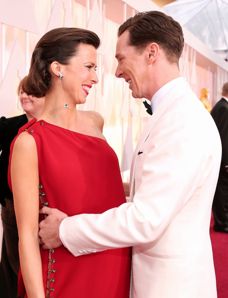 Benedict Cumberbatch and Sophie Hunter at the Oscars 2015