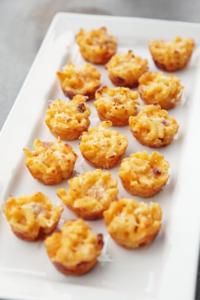 Three-Cheese Mini Bacon Macaroni and Cheese Bites