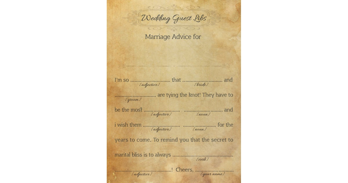 Marriage Advice For The Couple