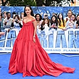 Rihanna glowed in Giambattista Valli for the London premiere of Valerian And The City Of A Thousand Planets in July 2017.