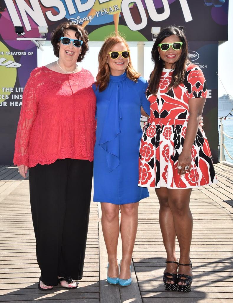 Phyllis Smith, Amy Poehler, and Mindy Kaling