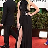 Rosie attended the 2013 Golden Globe Awards in a showstopping Saint Laurent dress and heels.