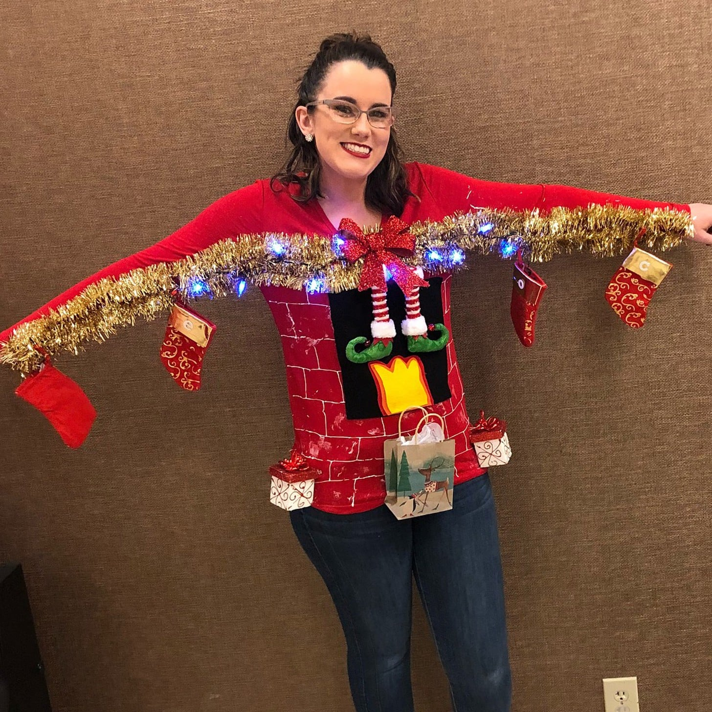 ugly christmas sweater diys popsugar smart living