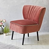 Fern & Grey Blush Pink Velvet Mid Century Cocktail Chair
