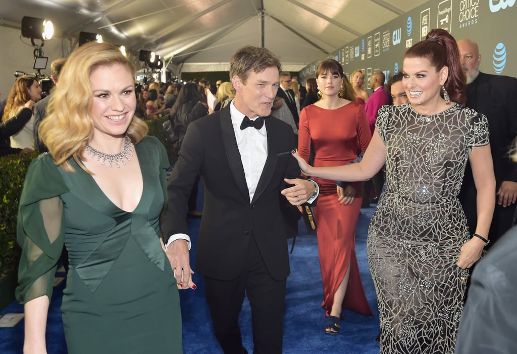 Pictured: Anna Paquin, Stephen Moyer, and Debra Messing